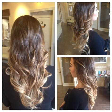 barrel curl weave hair balayage big barrel curling iron and ombre on pinterest