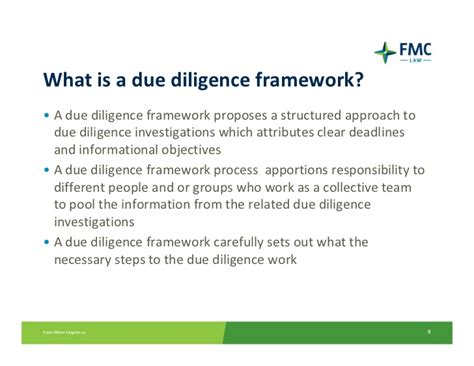 technology due diligence template creating a due diligence framework