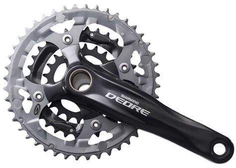 Chainring Truvativ 32 44t shimano crankset deore fc m590 22 32 44t black silver bikes