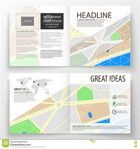 leaflet map layout business templates for square bi fold brochure magazine