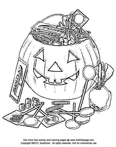 halloween candy bucket free coloring pages for kids