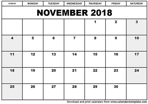 Google Docs Calendar November Template 2018 Best Business Template Docs Calendar Template 2018
