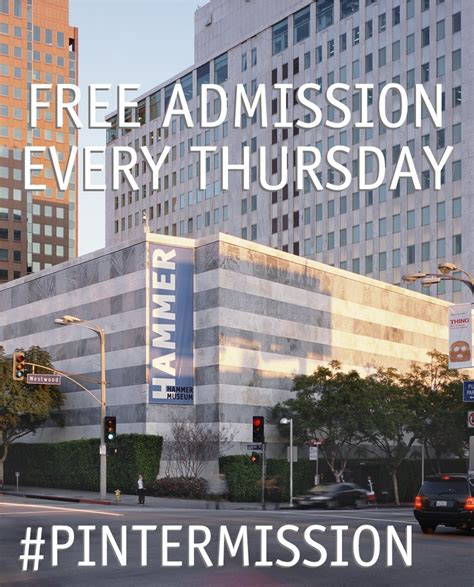 Getting Into Ucla Mba by Free Admission Every Thursday Take A Pintermission And