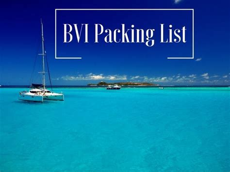 bvi catamaran packing list bvi sailing packing list what to and not to bring