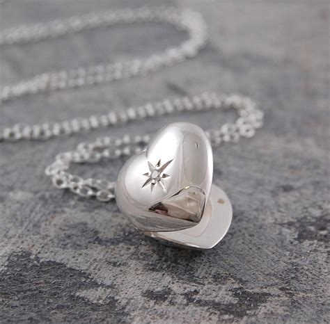 Chronoforce 2566ms Silver White Original silver topaz birthstone locket necklace by otis