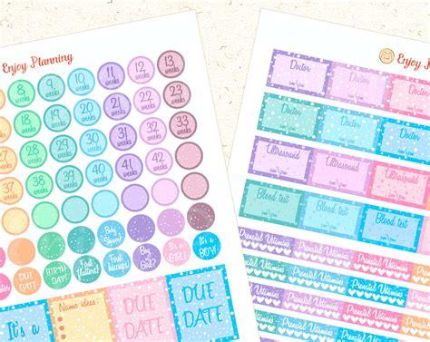 free printable pregnancy planner stickers printable pregnancy stickers pregnancy planner sticker set