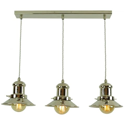 3 Light Pendant Lighting Small Edison 3 Light Pendant Polished Nickel C W Lb3 Bulbs