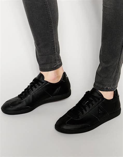 le coq sportif tacleone sneakers in black for lyst
