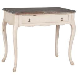 distressed white cottage desk home decor ideas