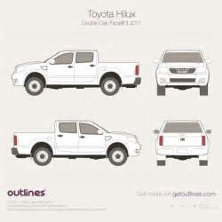 Cabin Blueprints 2011 toyota hilux drawings outlines
