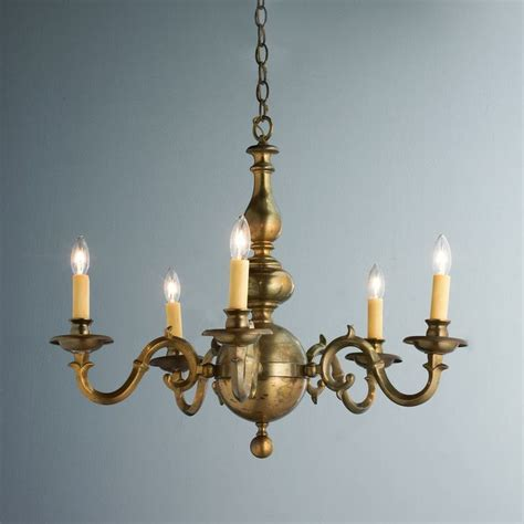 Brass Chandelier Antique Antique Aged Brass Georgian Chandelier