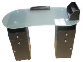 table frosted top tempered:  manicure table w tempered frosted glass top black manicure tables