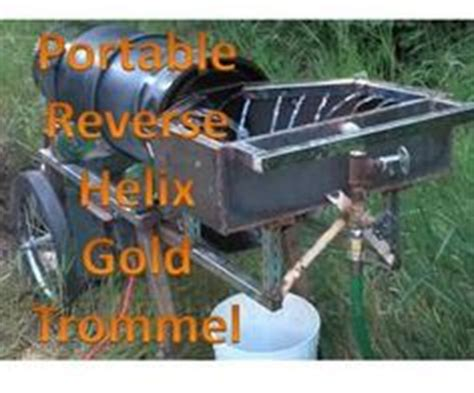 homemade gold trommel design gold genie spiral panner prospector model gold mining