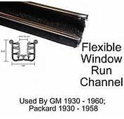 Universal Window Run Channel Pair  5/8 Wide X 9/16 Tall Fits 1950