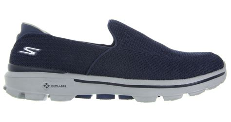 Skechers Go Walk 3 by Skechers Go Walk 3 Shoes Navy Grey Discount Prices For
