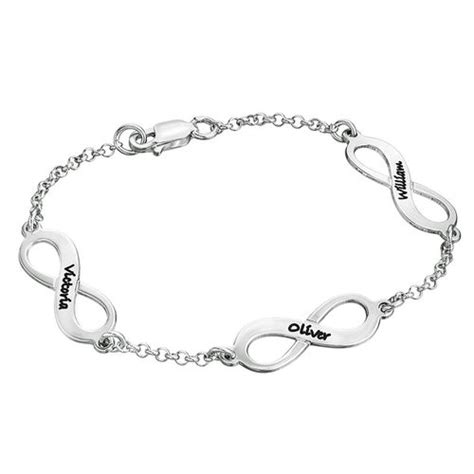 Kalung Nama Gold Grafir Uk Standar infinity bracelet in silver mynamenecklace