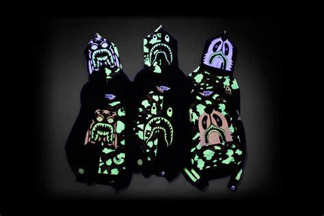 Hoodie Zipper Glow In The Bonek 1 a bathing ape glow in the hoodie collection the masked gorilla