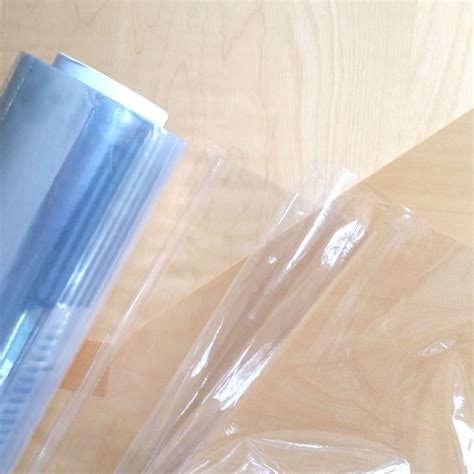 clear plastic table top crystal clear pvc vinyl oilcloth table protector