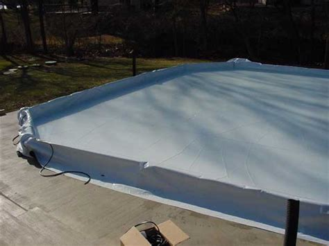 backyard rink liners synthetic rink of skating and hockey foam divider