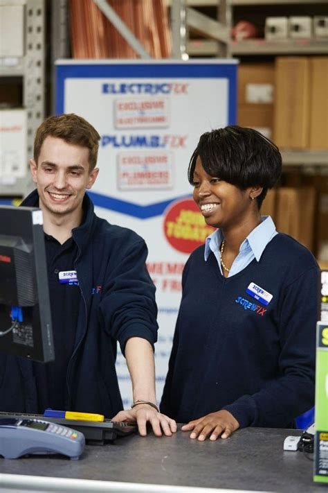screwfix jobs working in a trade counter screwfix office photo
