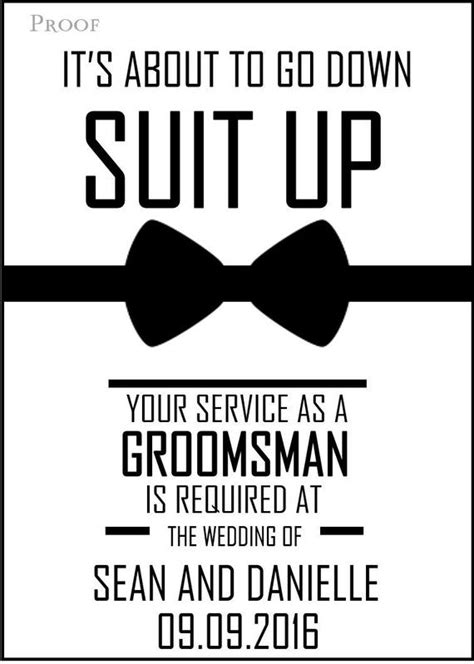 Will You Be My Groomsman Printable Invite For Your Boys Groomsmen Template