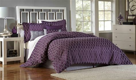 plum comforter essential home 7 piece comforter set plum geo