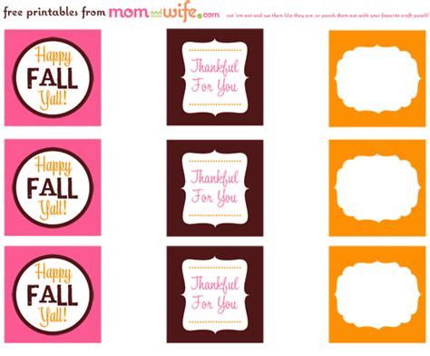 printable labels for your fall food gifts by lia griffith 7 best images of free blank printable fall tags