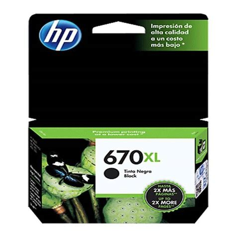Tinta Hp 950bk Xl cartucho hp 670 xl original de tinta negra