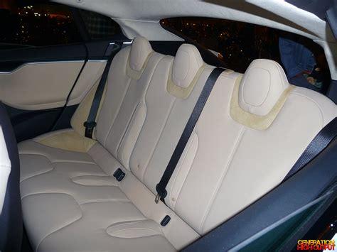 Tesla Back Seats Spotted 2012 Tesla Model S Genho