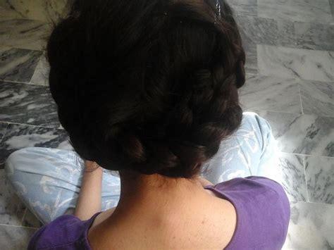 hair braid across back of head 3 ways to make a crown braid wikihow