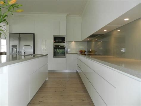 long kitchens long kitchen white units with pale grey worktop good