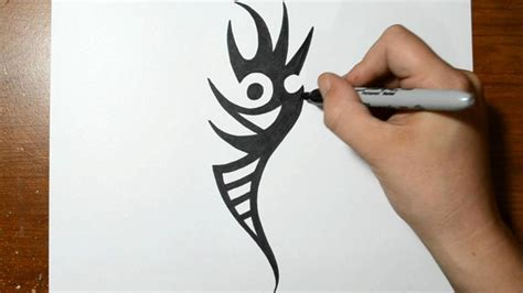 tattoo tribal drawing tool how to draw a tribal tattoo design sketch 3 youtube