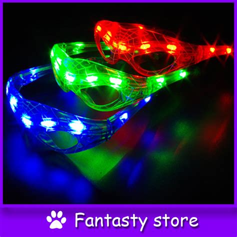 Glowing Kefir Mask 10 Days 10pcs lot glow in 8leds glowing glasses masks for wedding birthday festival