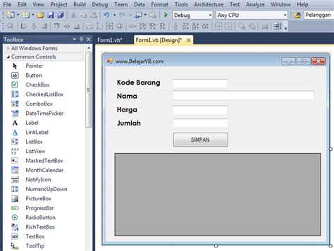 membuat database mysql vb 2010 cara input database mysql vb 2010 belajar vb 6 0 dan