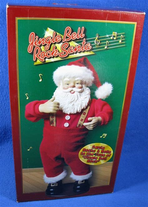 rock santa jingle bells edition 1 vintage 1998 jingle bell rock santa edition 1 singing rocking selling on ebay