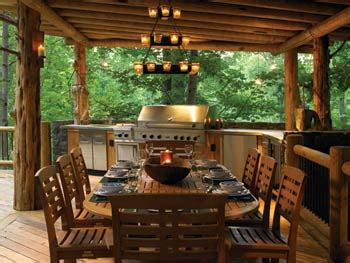 cabin porch log cabin cooking outdoor kitchens bringing nature right to the table in style