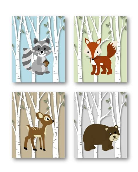 Woodland Nursery Decor Woodland Nursery Art By Woodland Animals Nursery Decor