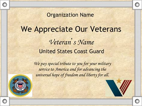 certificate of appreciation usmc template images