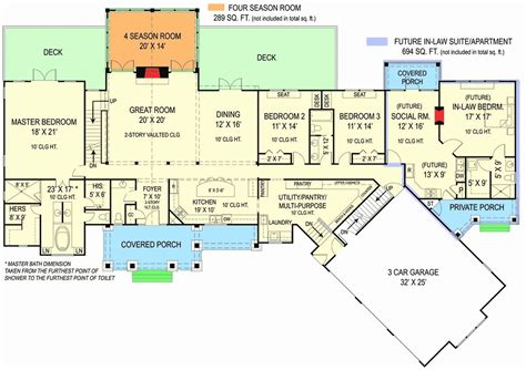 best floor plans with inlaw quarters best house plans
