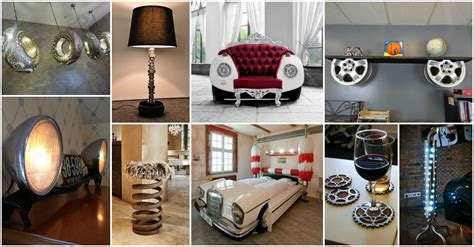 car part home decor 15 fascinating recycled car parts ideas