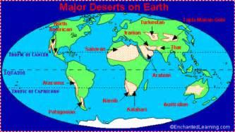 Desert World Map by Location Desert Biome