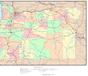 map state oregon political map