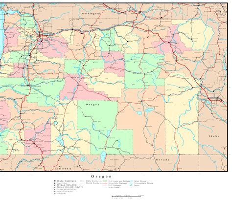 map of oregon interstates road maps of oregon state