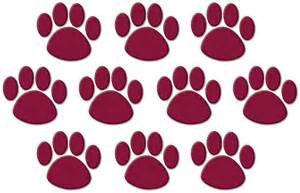 maroon paw clipart