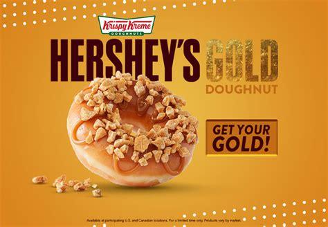 Donat Gold krispy kreme serves gold with new hershey s gold doughnut