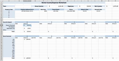 rental expense worksheet finances pinterest tops