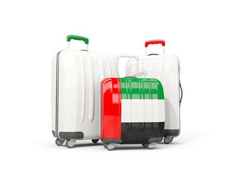 emirates luggage luggage with flag illustration of flag of united arab