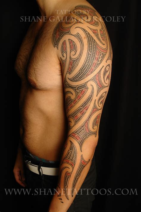 shane tattoos maori sleeve tattoo on matt