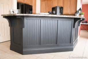 kitchen island with corbels remodelaholic budget friendly board and batten kitchen