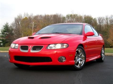 free car manuals to download 2005 pontiac gto electronic toll collection buy used 2005 pontiac gto 6 0l 6 spd manual chrome wheels super clean red black in